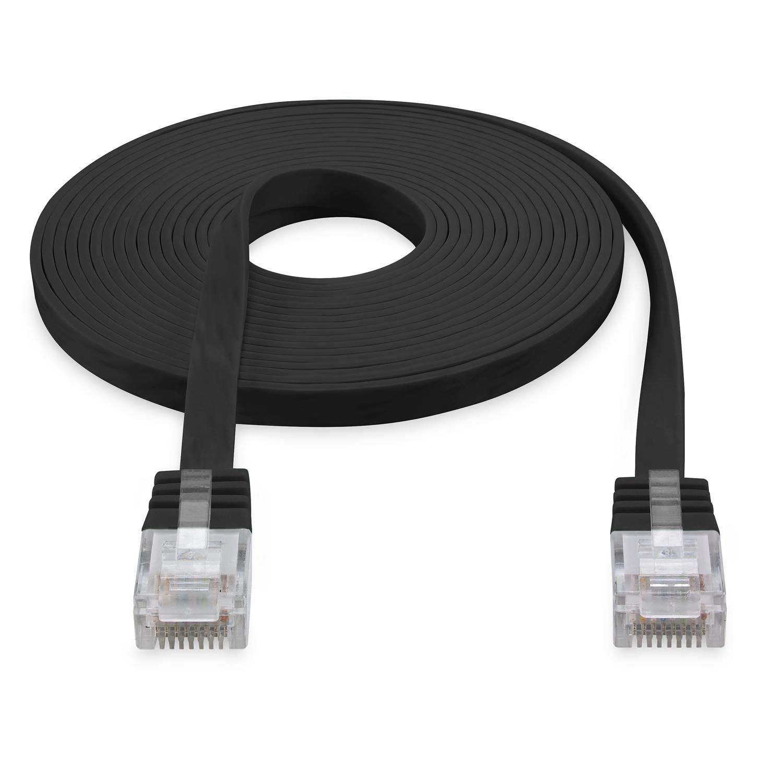 15m cat 6 patchkabel netzwerkkabel flachkabel flach kabel. Black Bedroom Furniture Sets. Home Design Ideas