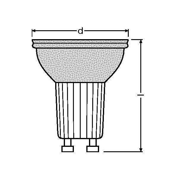 osram halogen reflektor spotlampe halopar 20 75 w 230 v 30 gu10 ebay. Black Bedroom Furniture Sets. Home Design Ideas
