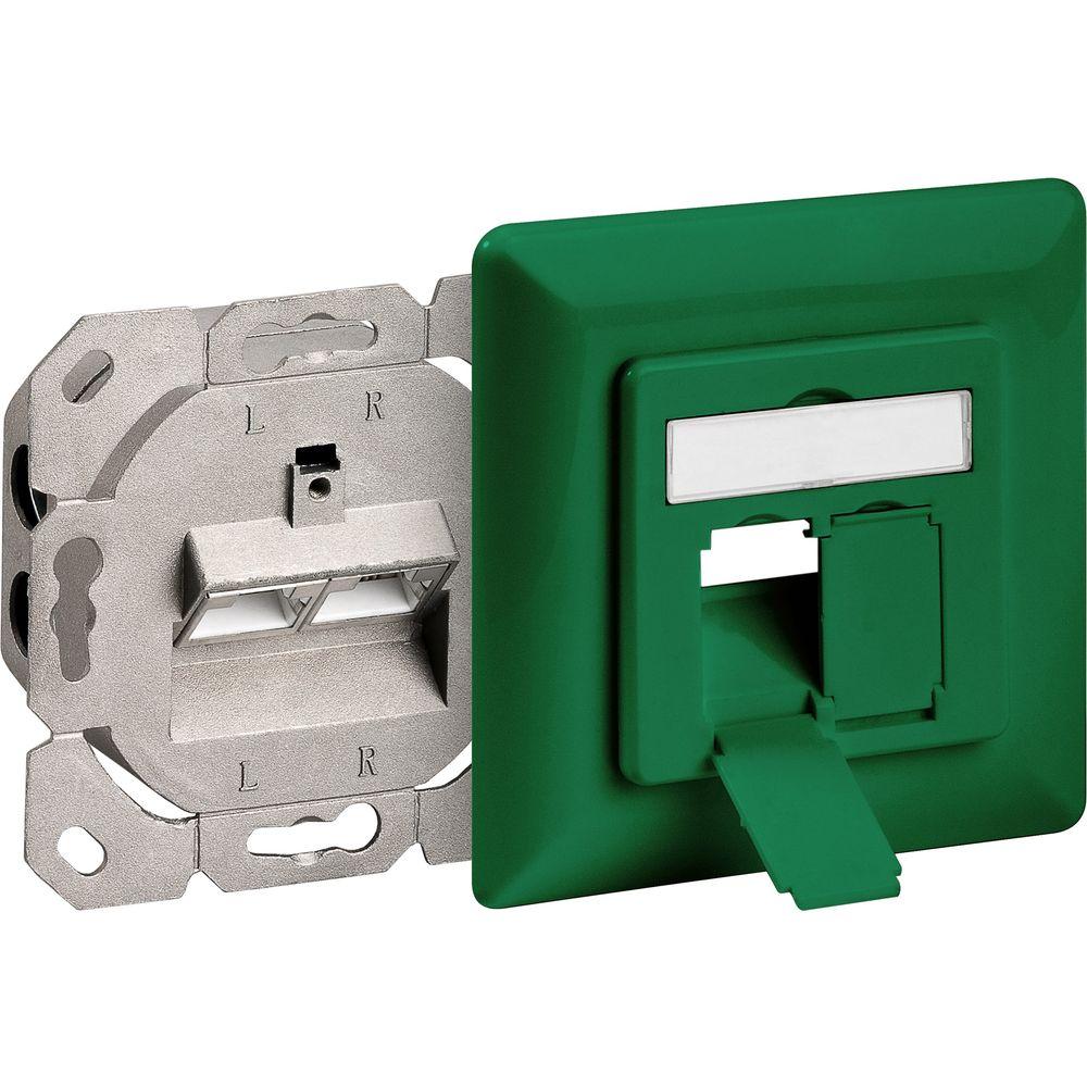 tecladoo - cat 6 unterputzdose (up) grün